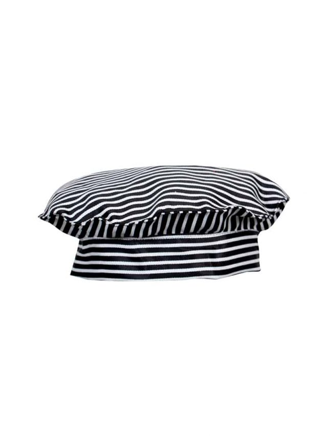 Black & White Stripe Chef Hat