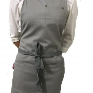 Grey Cotton Canvas Apron (With Pocket)