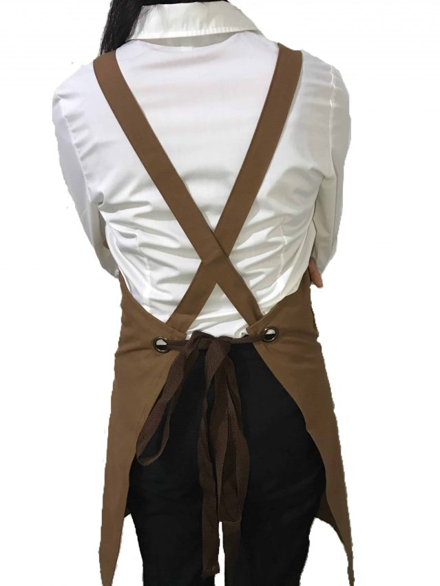 Brown Cotton Canvas Apron Back