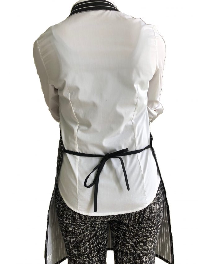 Stripe Bib Apron back