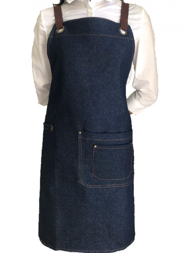 Luminous Blue Denim Aprons