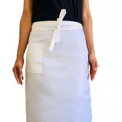 White Aprons (Waist Aprons With Pocket)