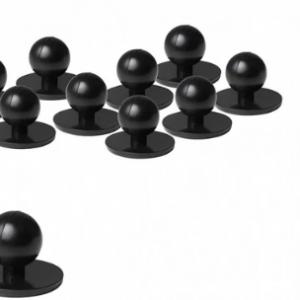 Black Stud Buttons