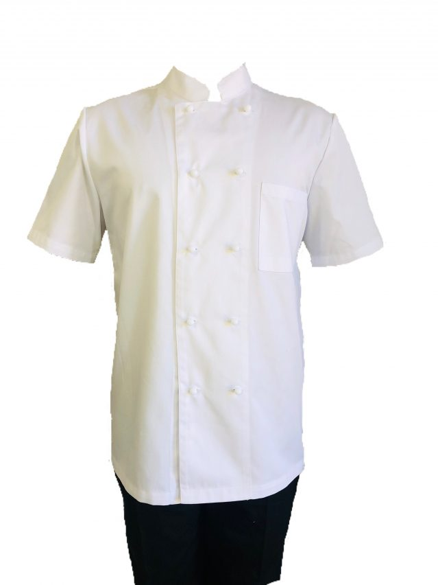 White Chef Jacket (White Stud Buttons)