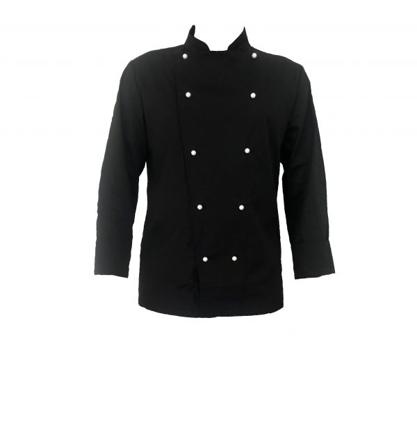 Black Chef Jacket long sleeve