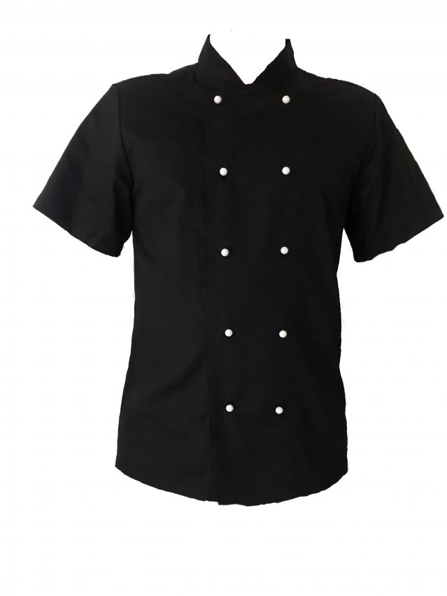 Black Chef Jacket (Half Sleeve)