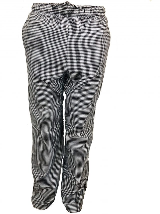 Black & White Check Chef Pants