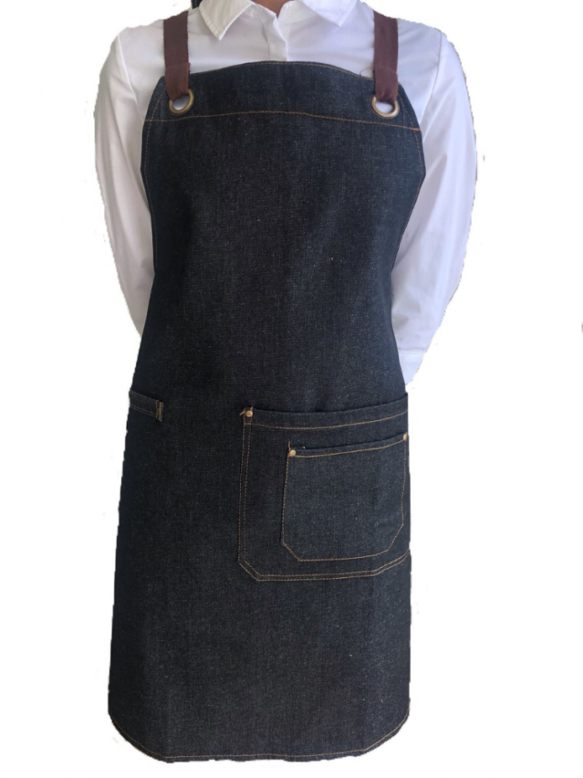Luminous Black Denim Aprons