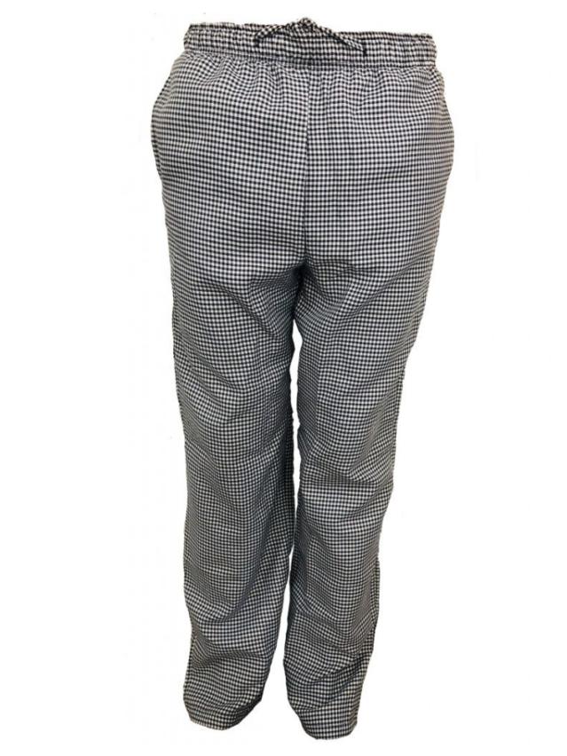 Black & White Check Chef Pants