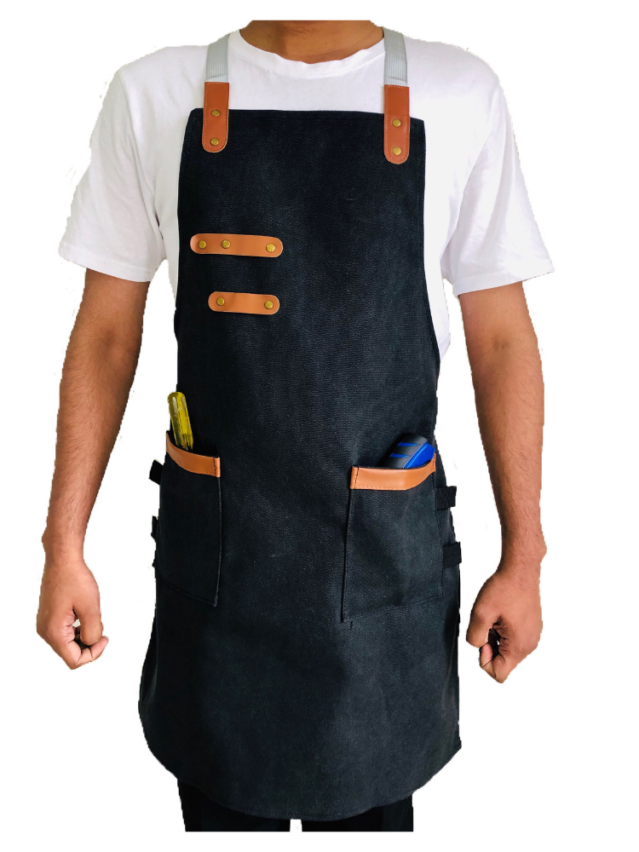 Canvas Apron (With Pocket)