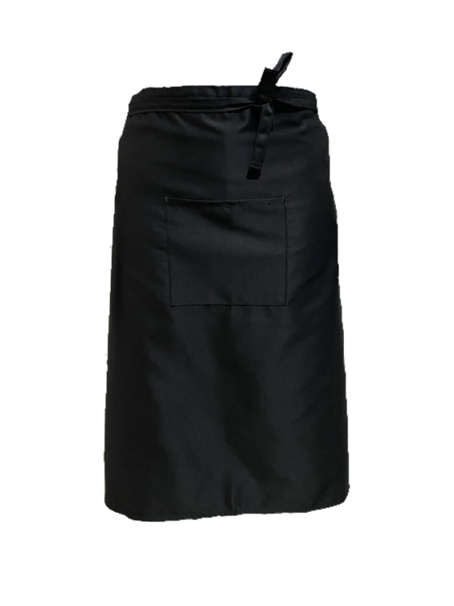 Black Waist Apron (With Pocket)