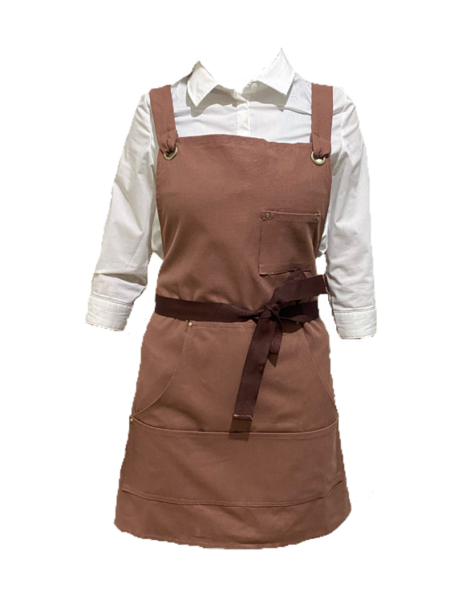 Brown Canvas Apron (With Pocket)