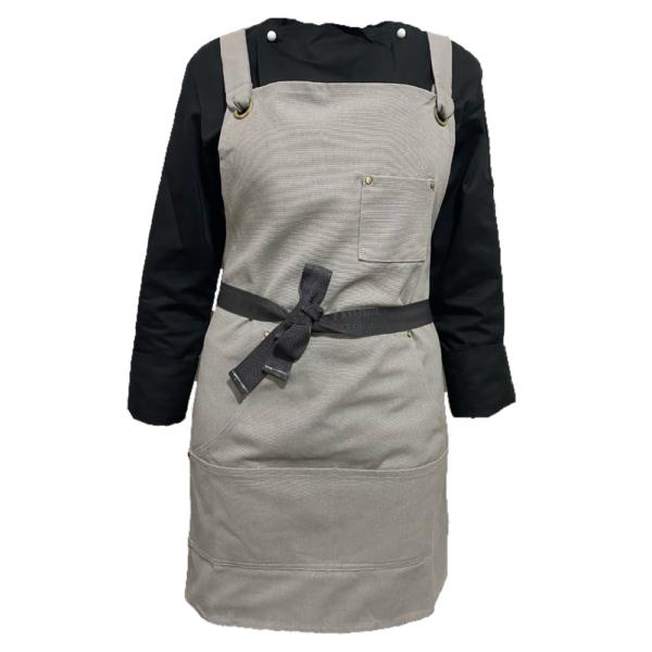 Grey canvas apron
